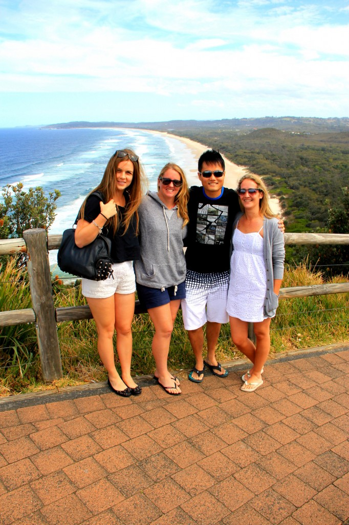 With Amy, Melissa and Tegan (Aussie) in Gold Coast