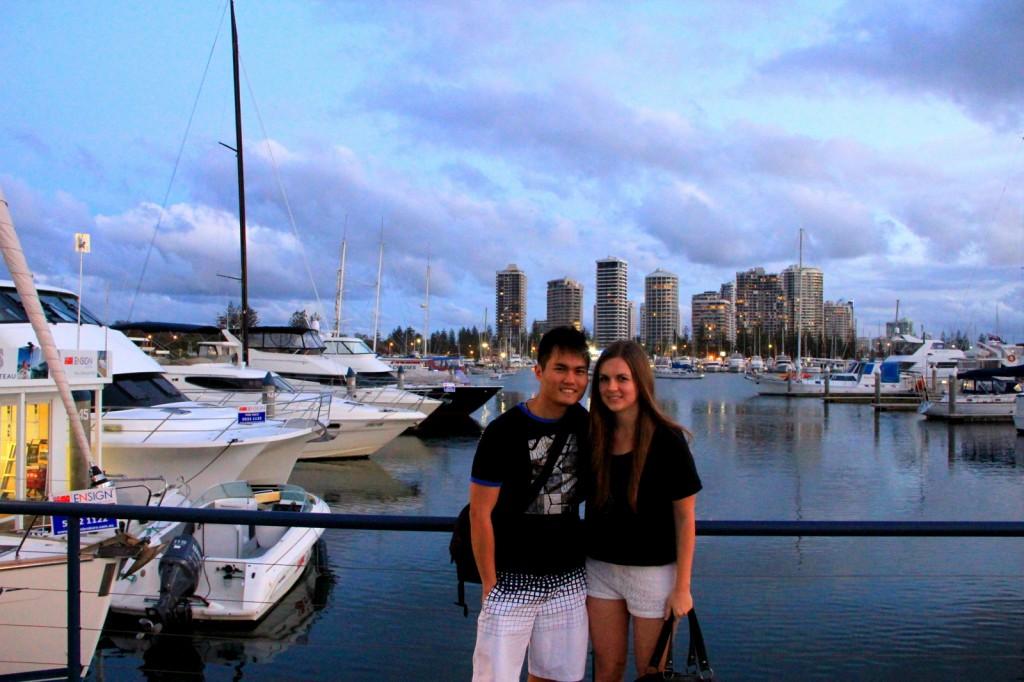 With Amy (Aussie) in Gold Coast, Australia