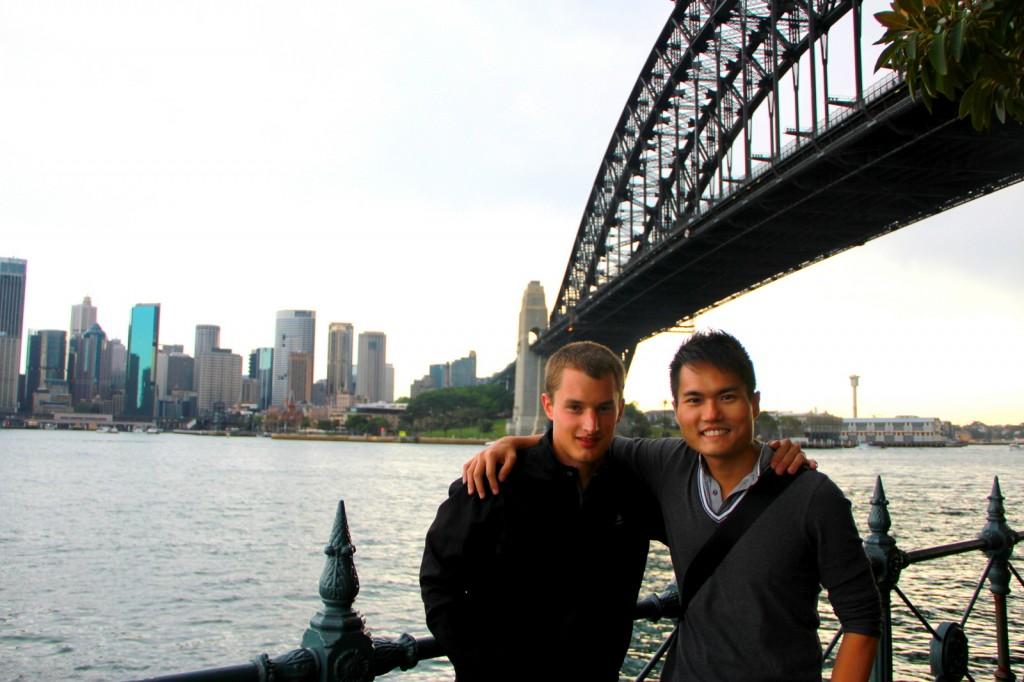 With Francois (Belgian) in Sydney, Australia