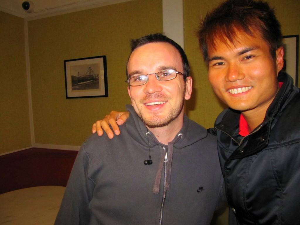 With Joao (Brazilian) in San Francisco Backpacker Hostel