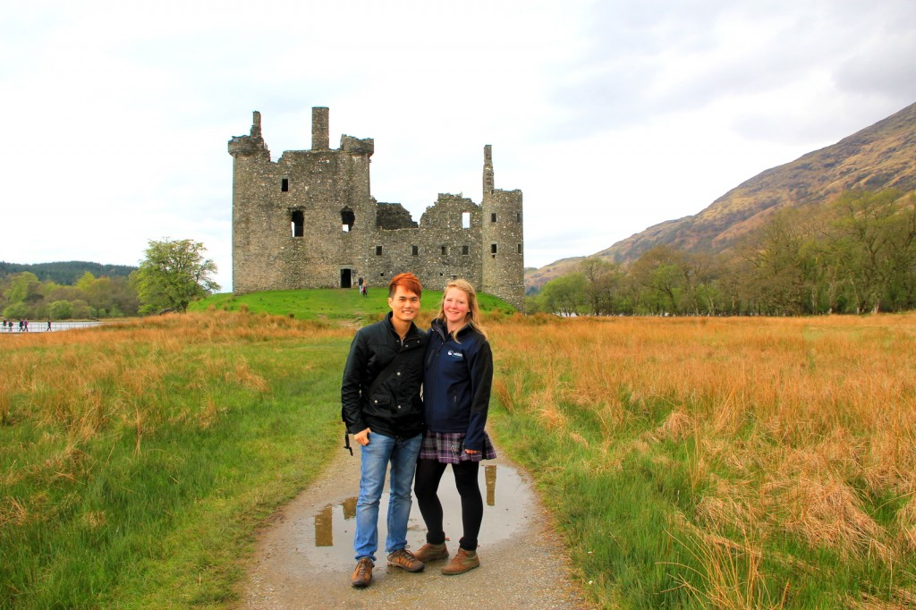 With Gail (Scottish) in Scotland