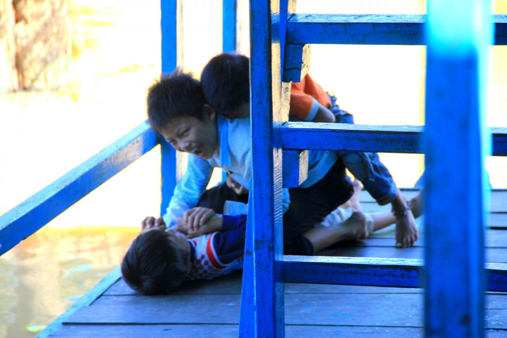 The playful Cambodian kids