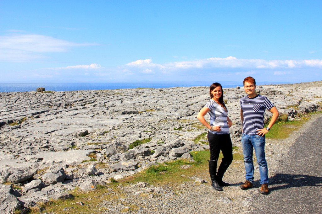 With Jaime at the Burren Lunar Landscape