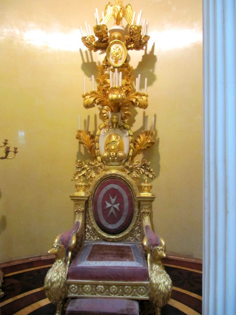 Throne in the Hermitage Museum