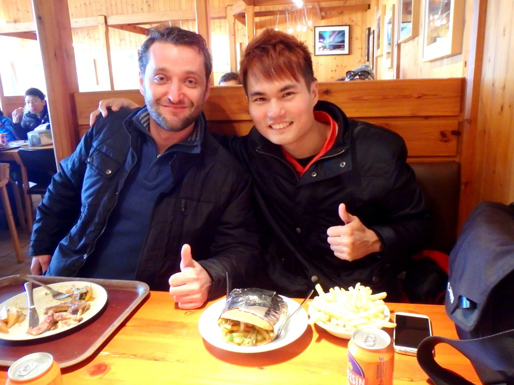 With Sebastian (Romanian) in Iceland