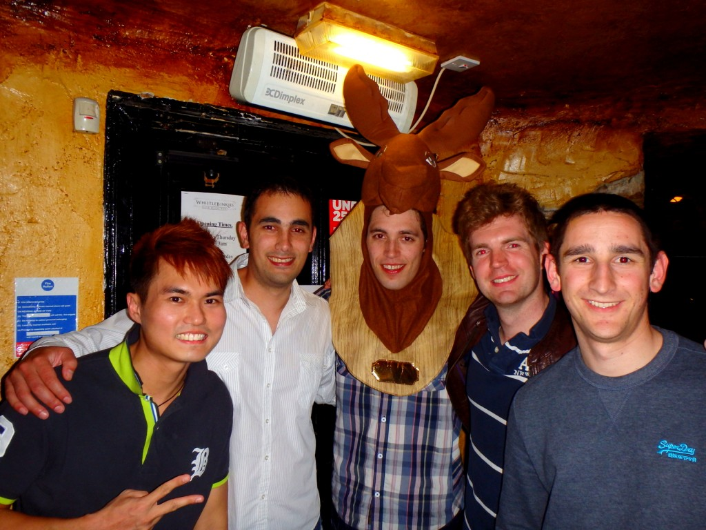With the British Boys at Stag Party Night in Edinburgh, Scotland