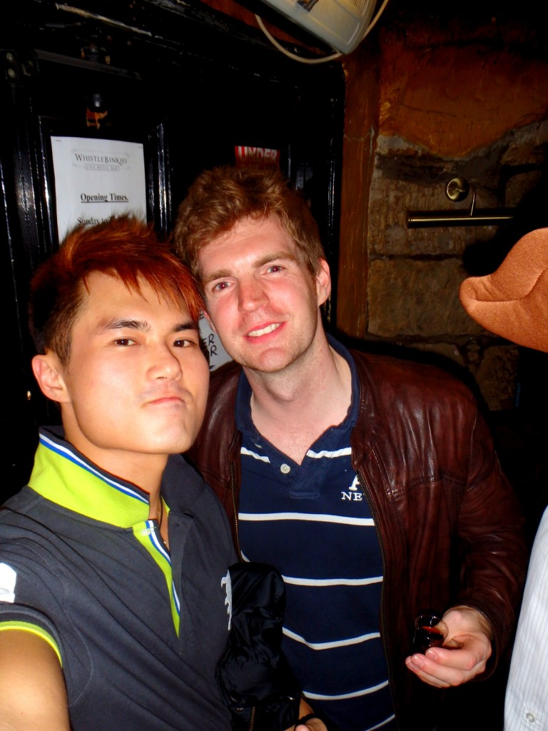 With Simon (British) in Scotland