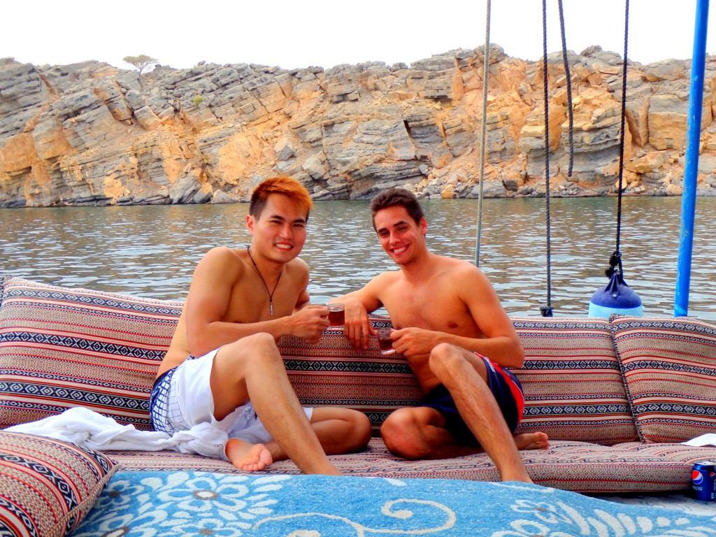 With Arthur (French) in Oman
