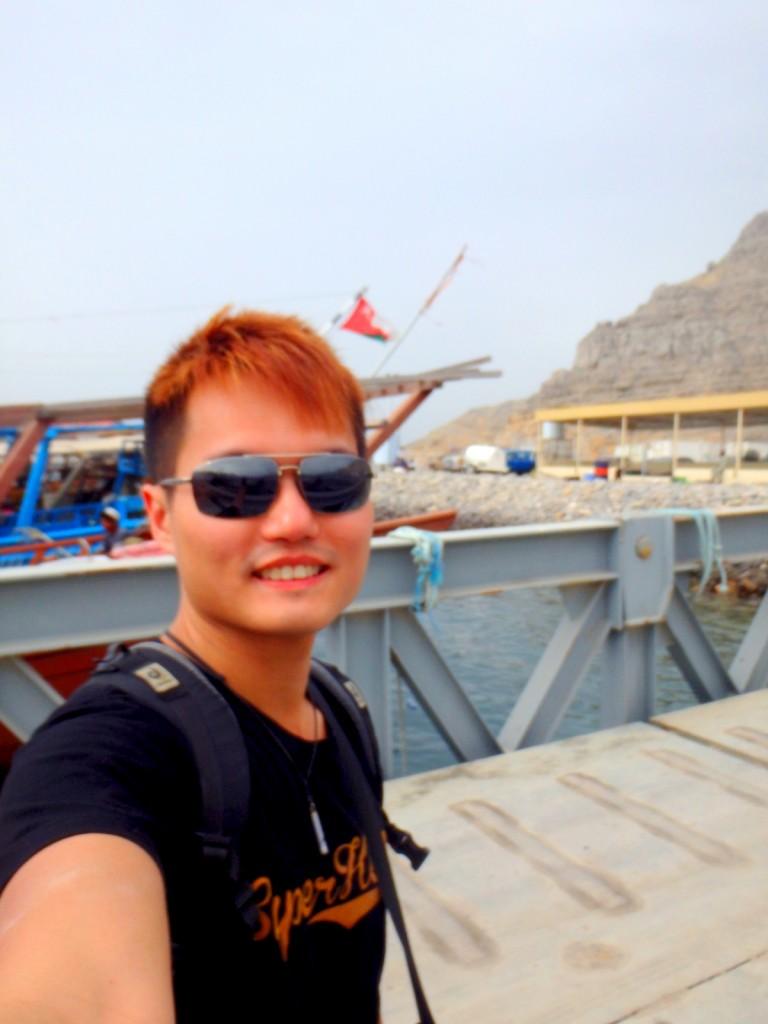Arriving at Khasab Port