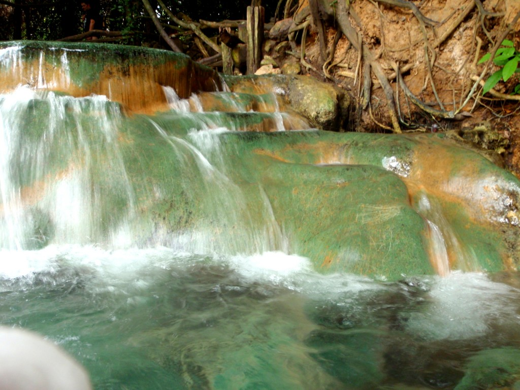The beautiful waters at the hot spring