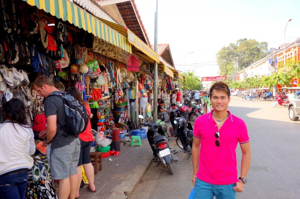 Street market in Siem Reap, Cambodia