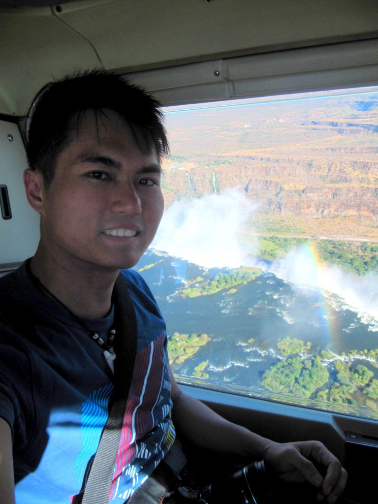 Helicoptering at Victoria Falls, Zimbabwe