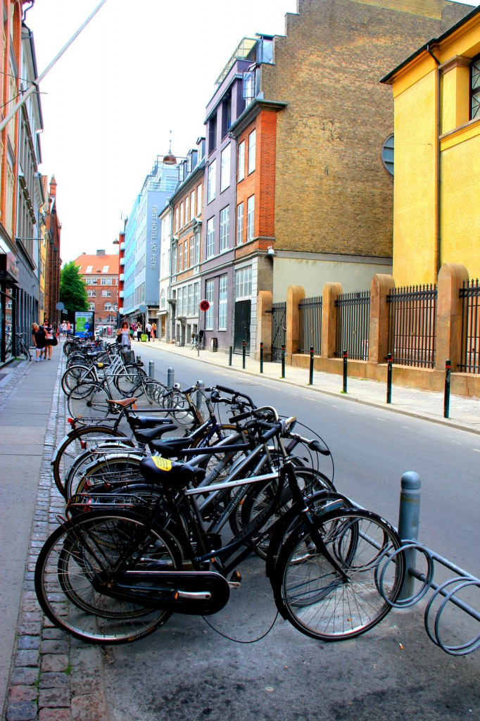 Bicycles parking lot in Copenhagen