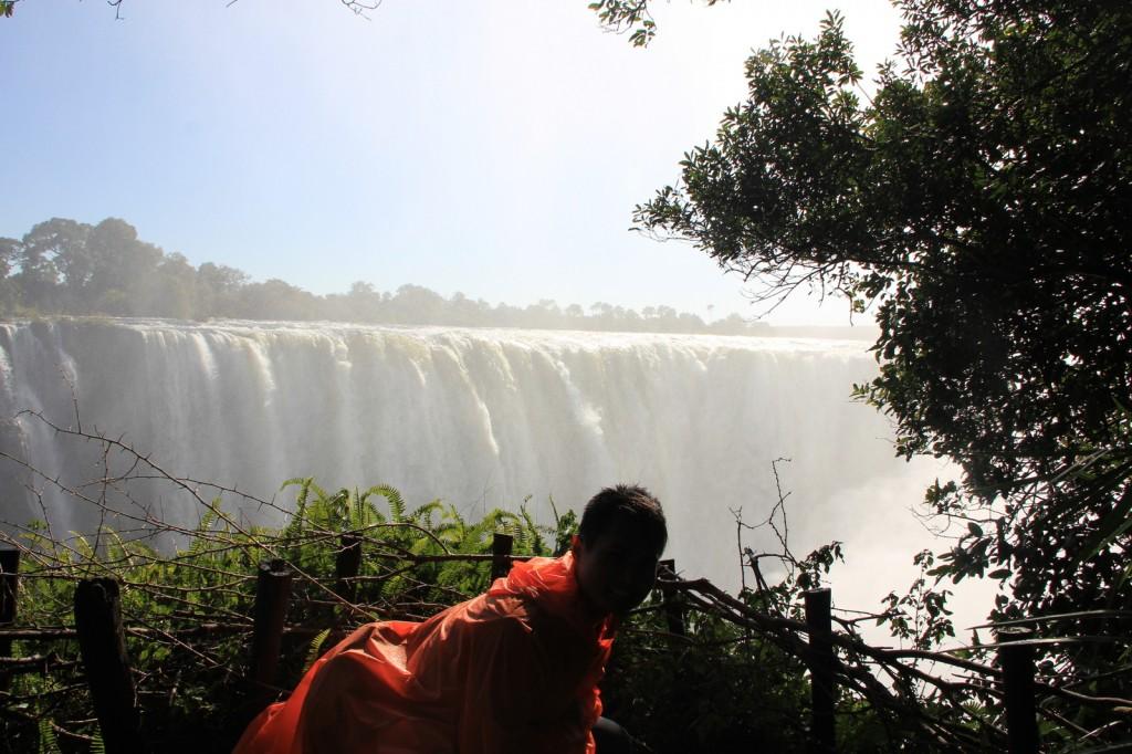 Seeking refuge from water/rain
