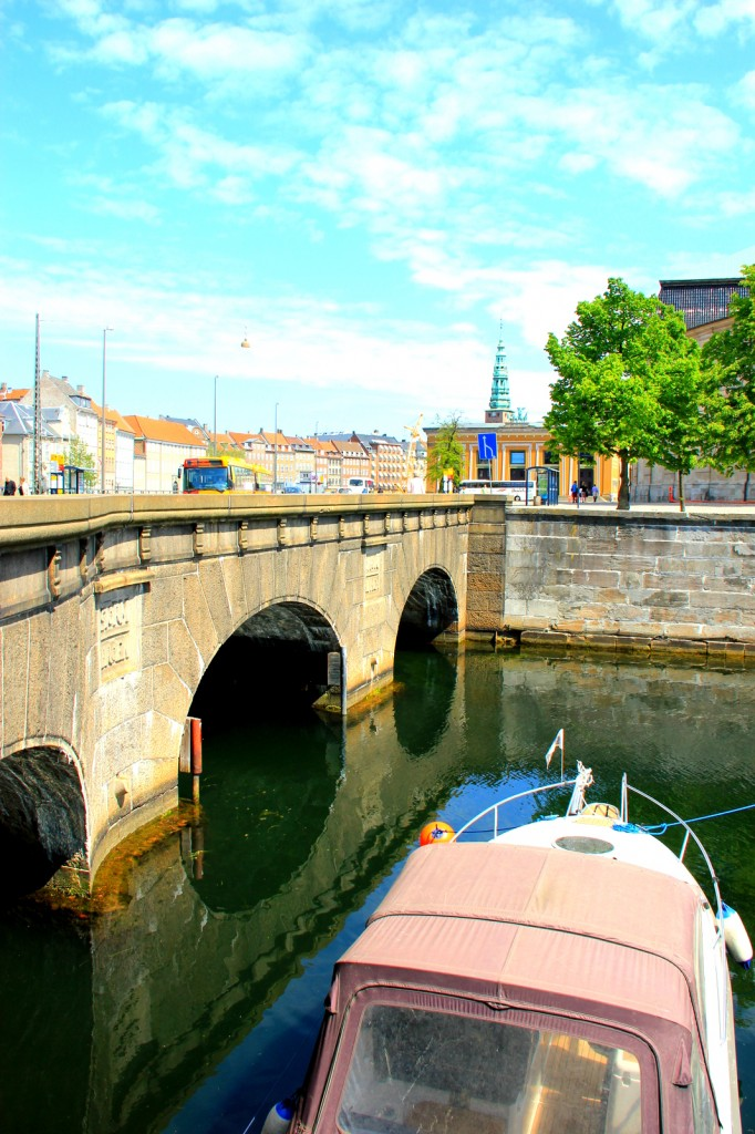 Beautiful canal bridge in Copenhagen