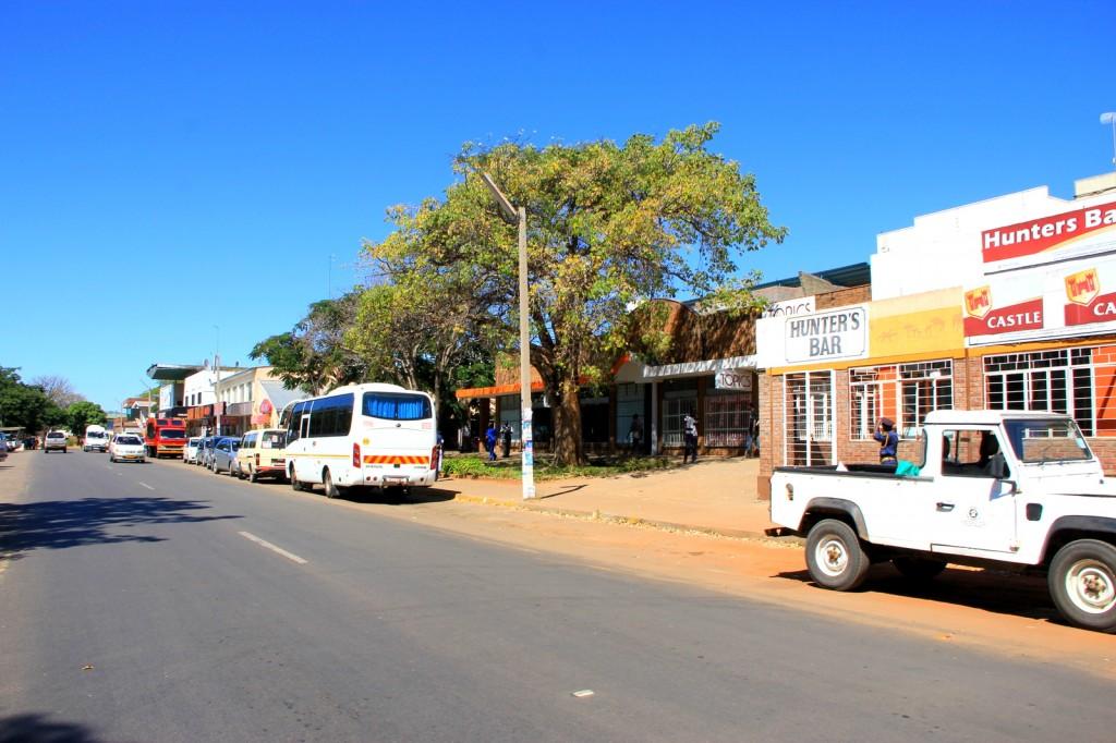 A Shopping Street at Victoria Falls Town