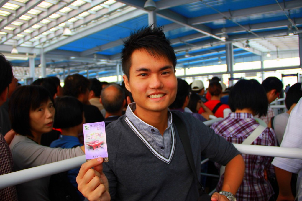 With this card, I can skip all queues in China! Neah I wish! haha