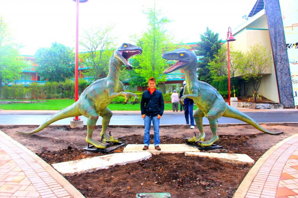 Velociraptor Fighting Over Me