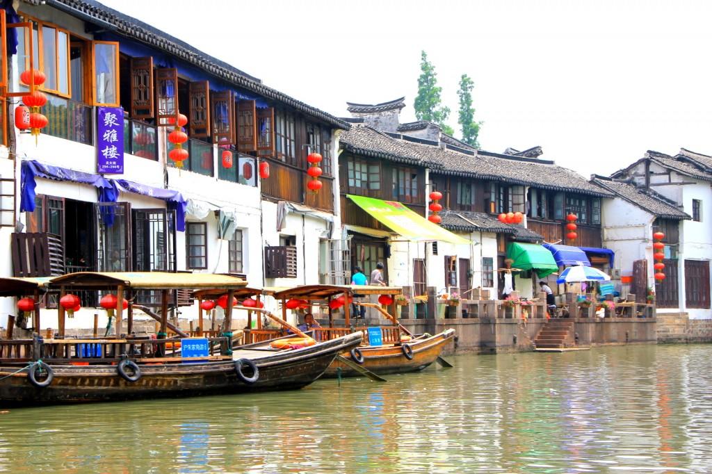 Gondolas at Zhu Jia Jiao