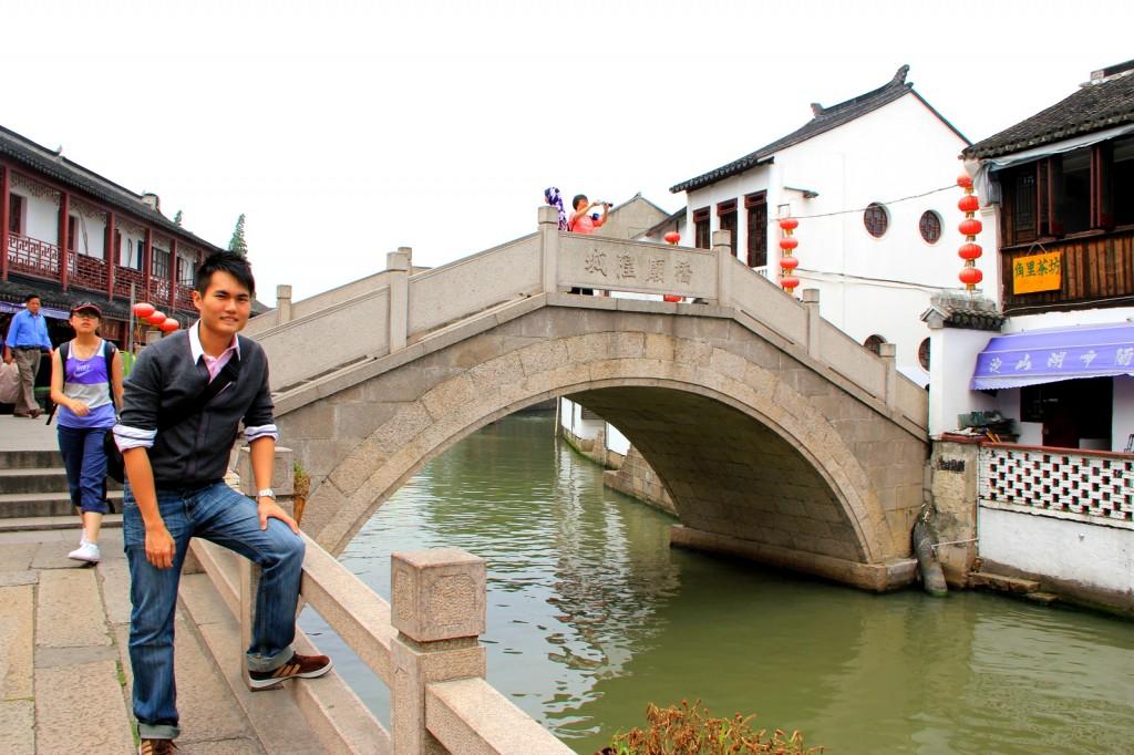 A smaller marble bridge