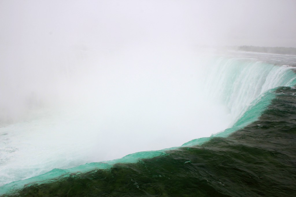At the edge and how it looks like before falling into the Horseshoe Falls