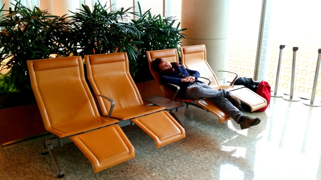 A sleep at the airport for long connecting flights