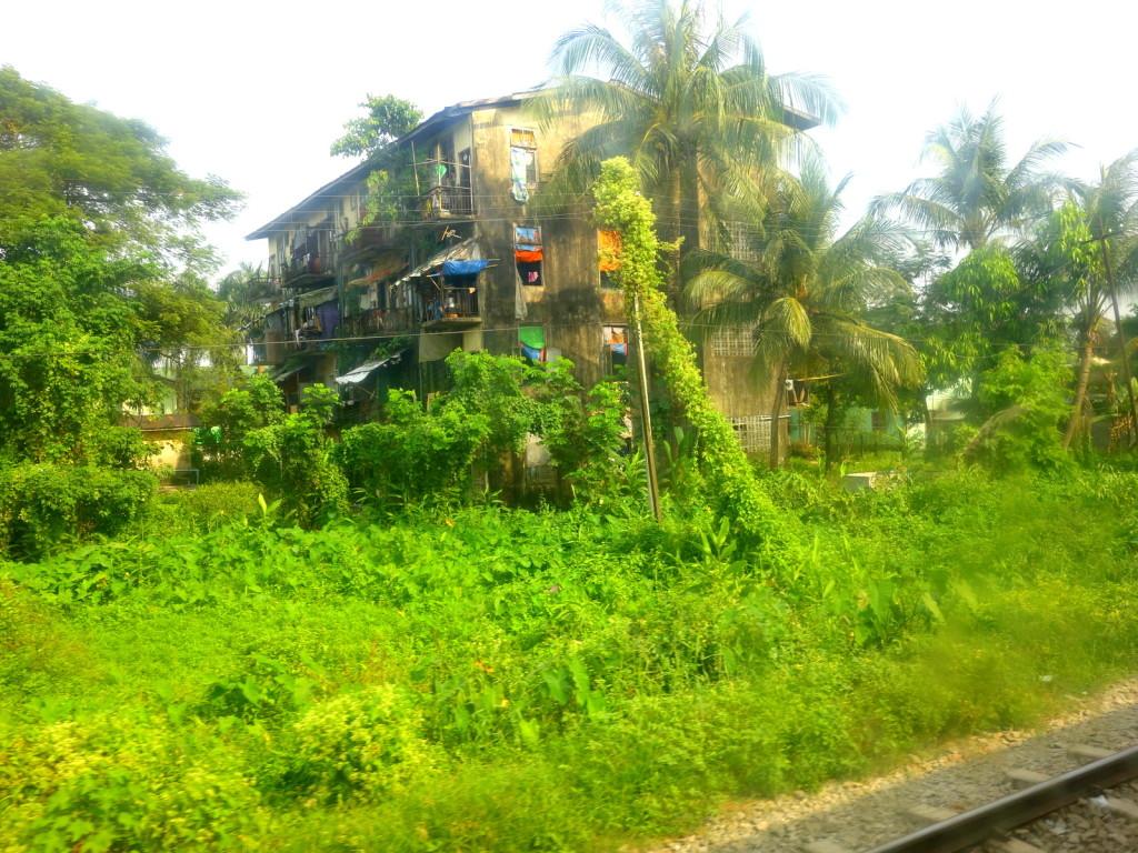 Rustic town in Myanmar