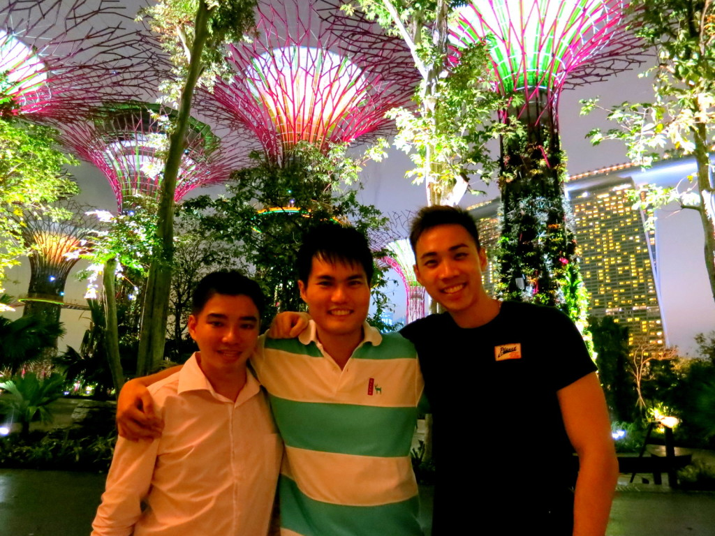 With Brother and Buddies @ Gardens By The Bay