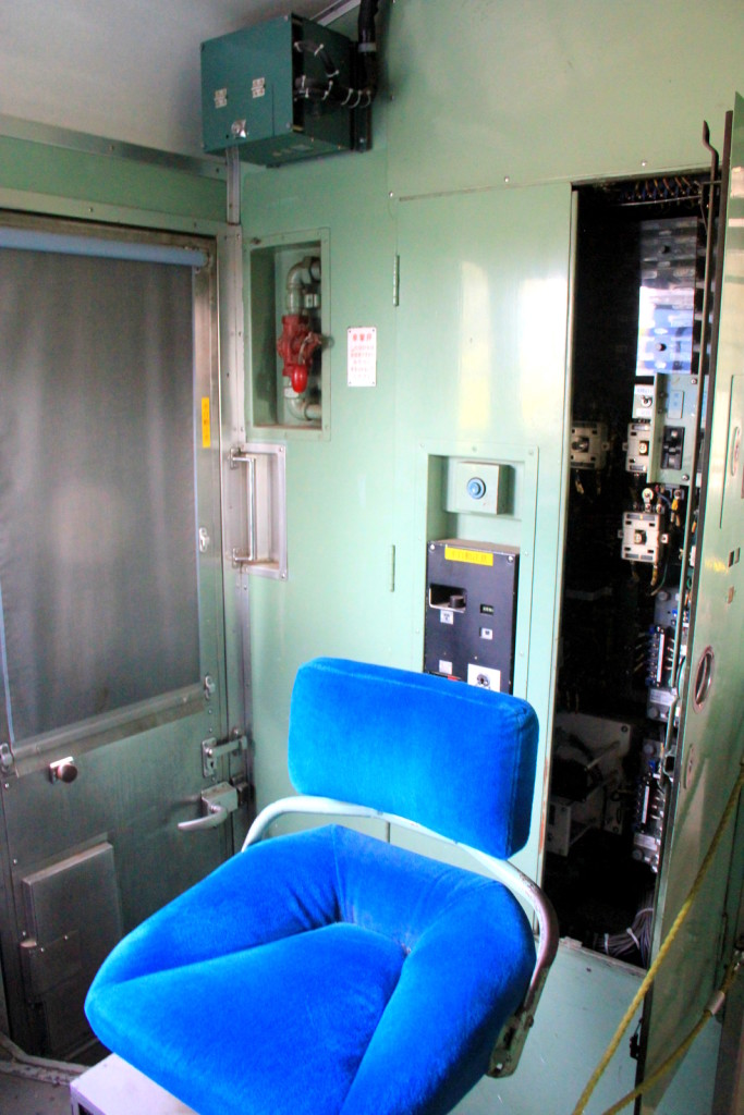 The train driver seat