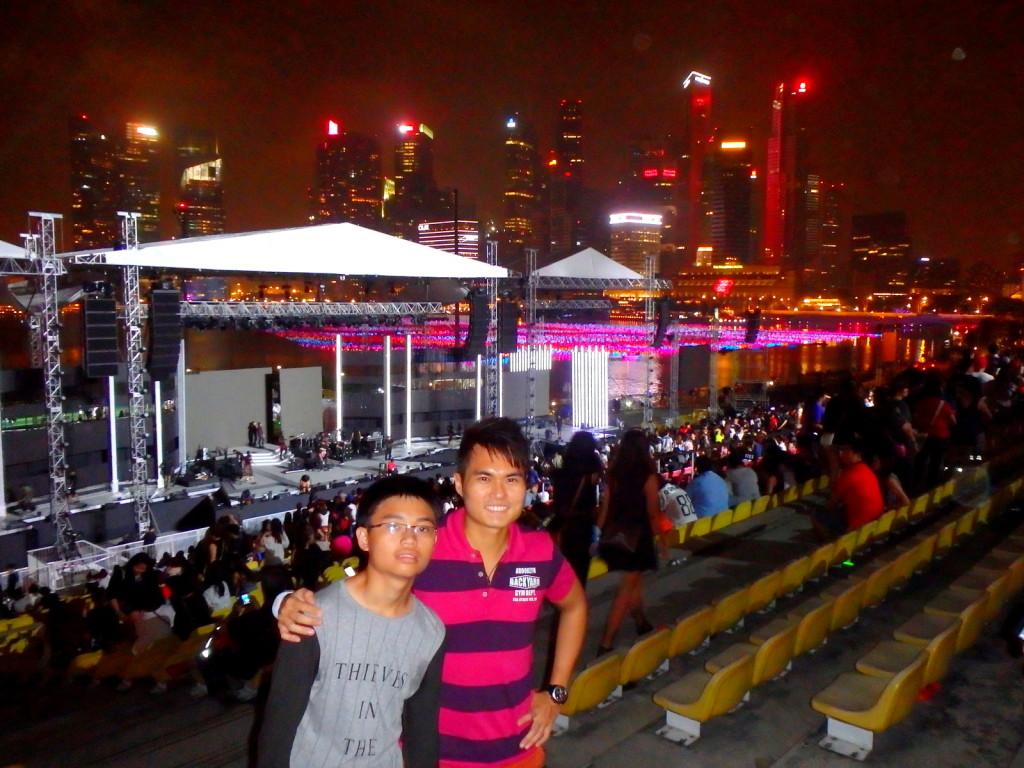 Celebrating SG50 at Marina Bay 2015 New Year Countdown