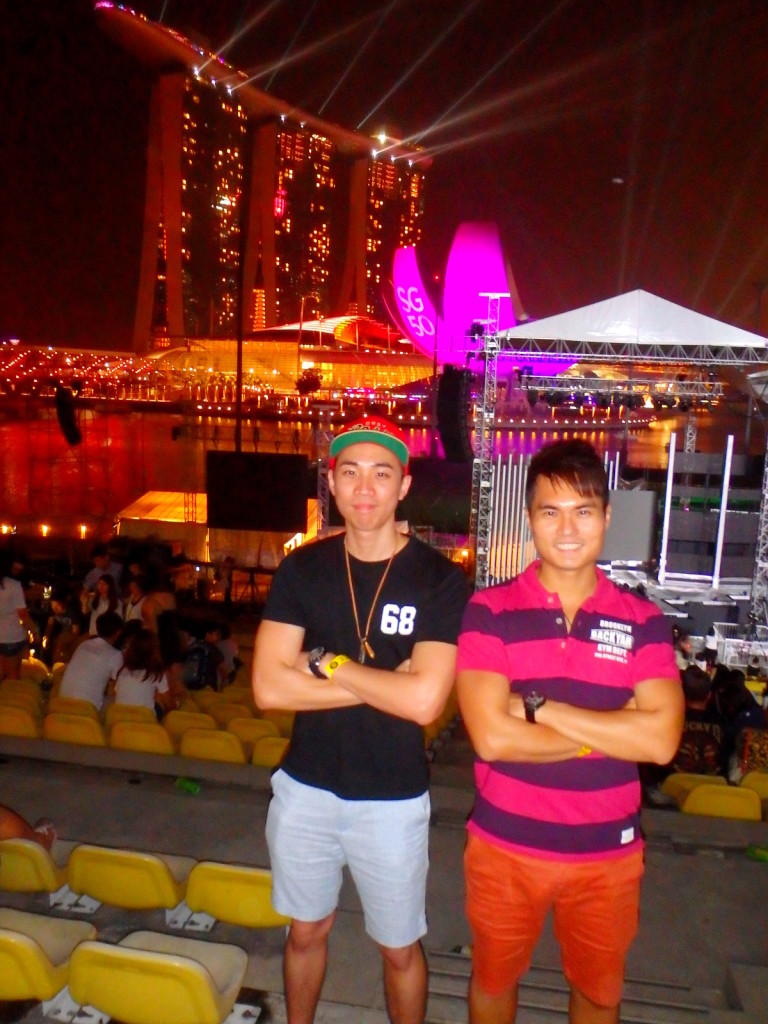 Celebrating SG50 at Marina Bay 2015 New Year Countdown