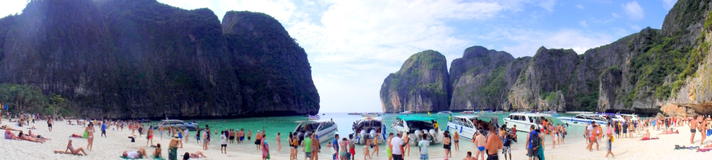 The Thai beach paradise I was at in 2014, Phi Phi Island! :-(