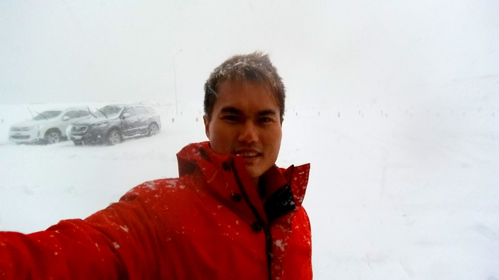 During the blizzard in Ushuaia, Argentina