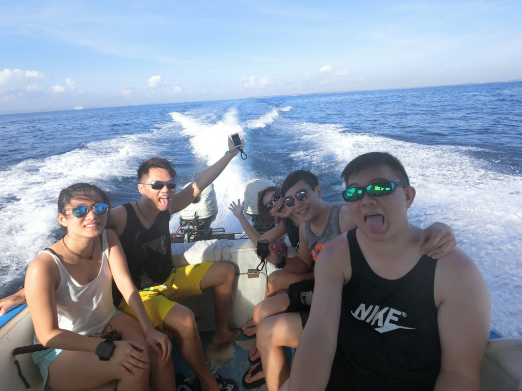 Bumpy journey all the way to Nusa Lembongan Island