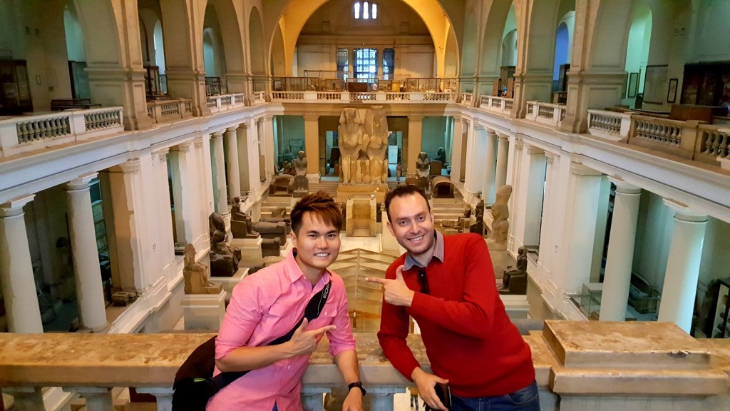 Just my Egyptian friend and us in the National Egyptian Museum! :-(