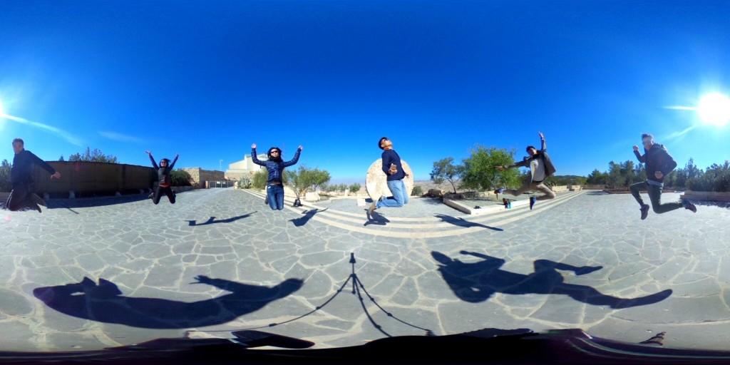 No one else at Mount Nebo, Jordan except us! :-(
