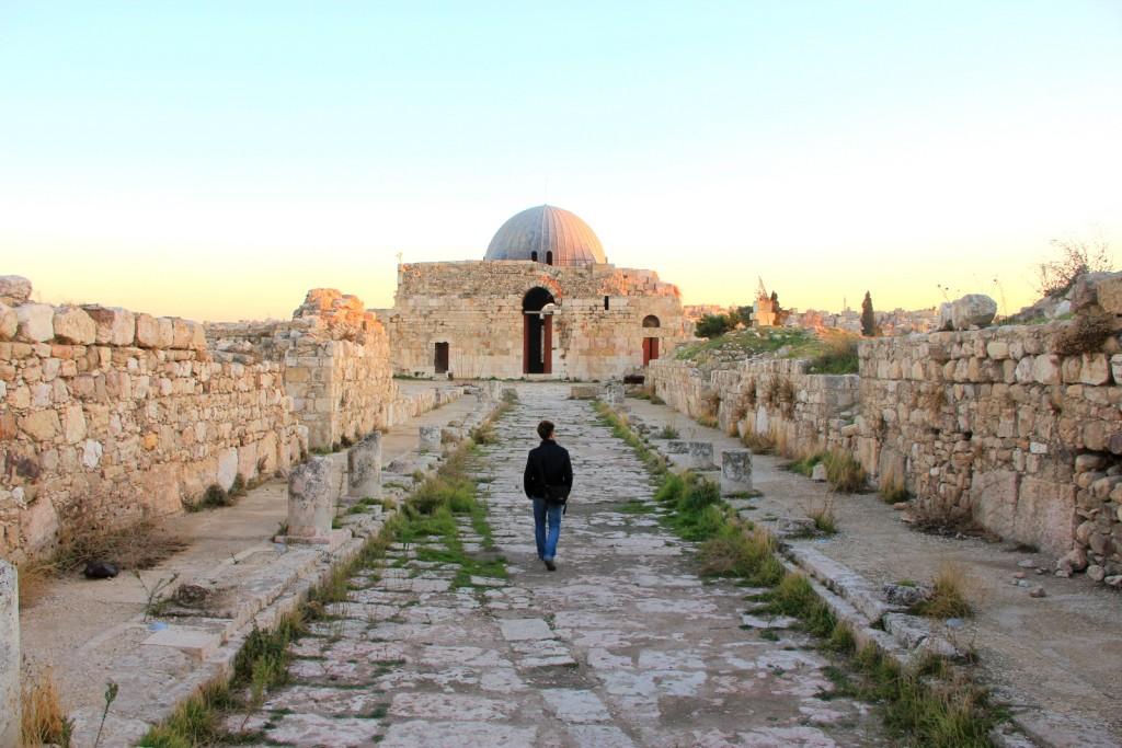 Exploring the citadel of Amman, Jordan