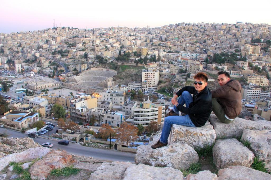 Sitting on top of the city of Amman, Jordan