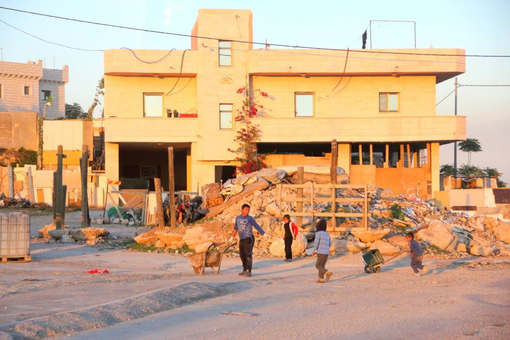 Pool kids working in Palestine! :-(