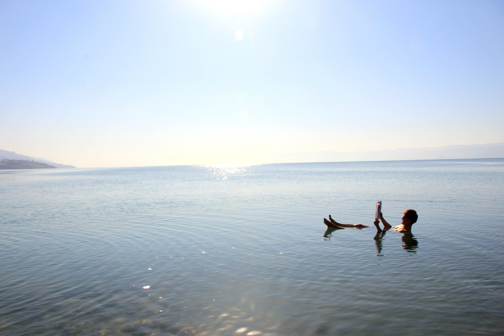 When everyone was worried, I was chillaxing reading newspaper in Dead Sea! :-)
