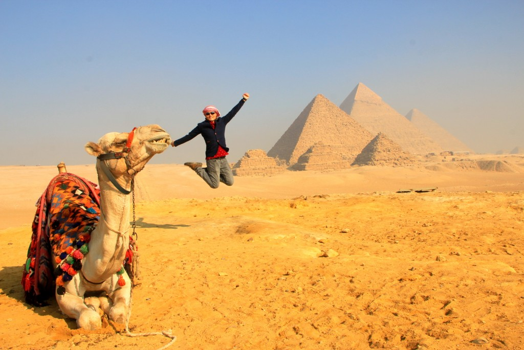 I'm not sure who is photobombing who? The Camel or Me? LOL
