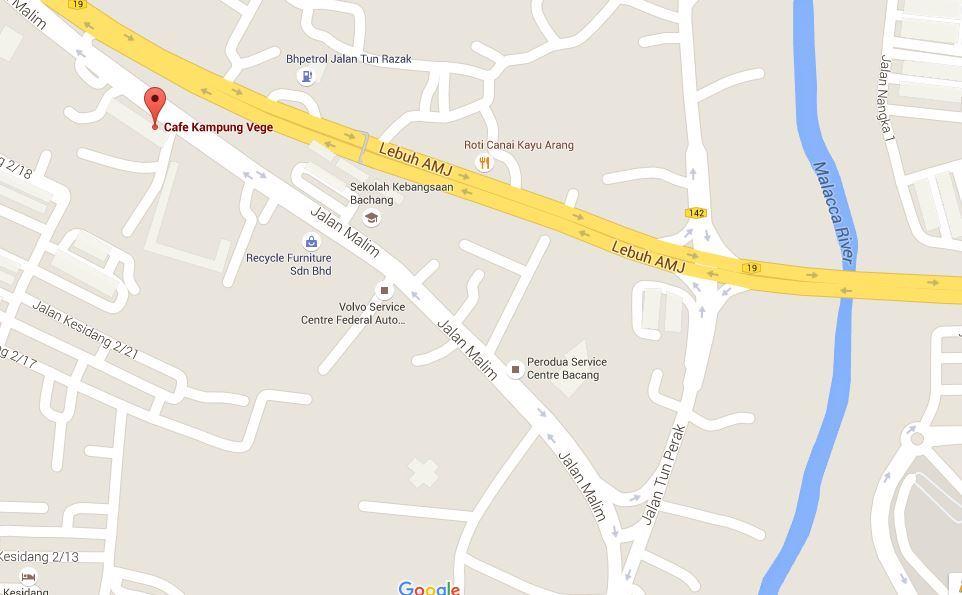 Cafe Kampung Vegetarian Map