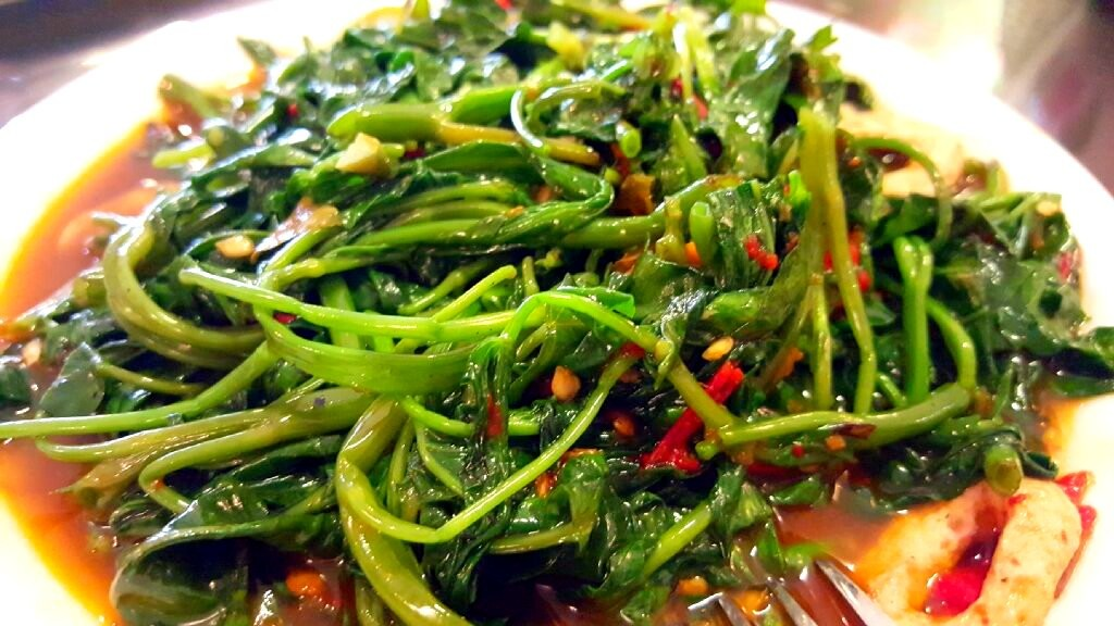 Kampung Vegetarian Stir Fried Kangkong