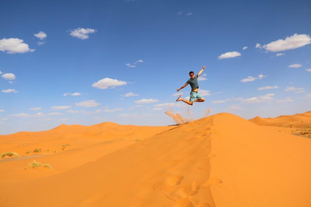 I'm FINALLY here!!! My signature jump shot KJS @ Great Sahara Desert!