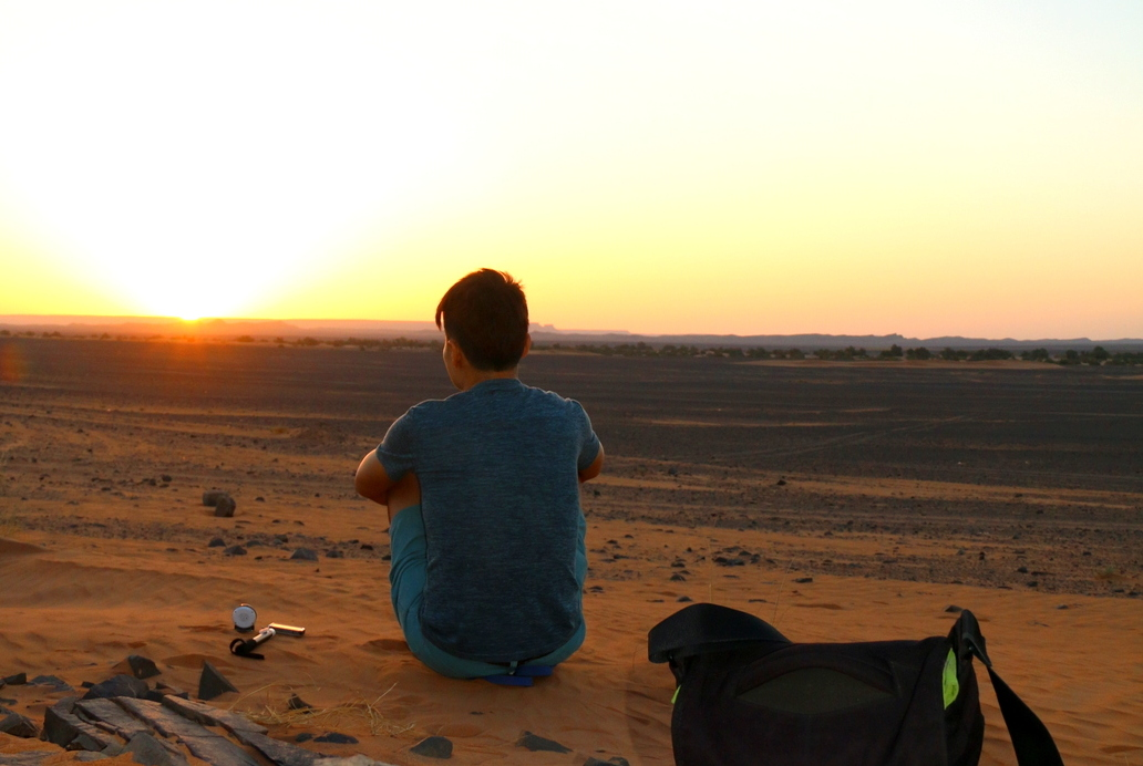 Just me, myself and I in the Sahara Desert