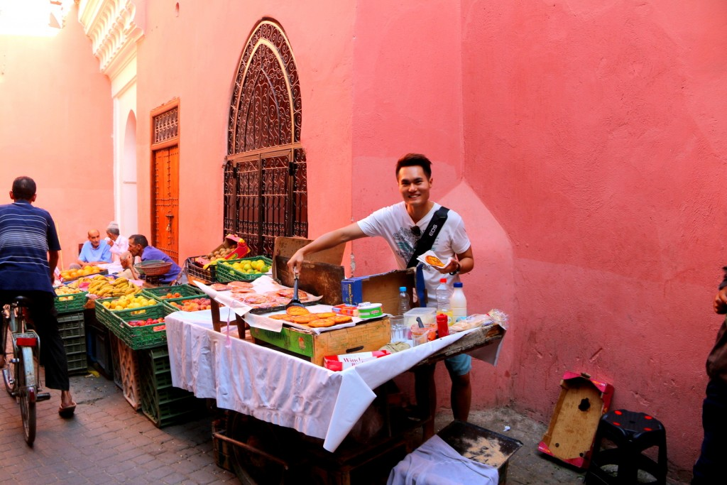 My part time job in Marrakesh! :-)