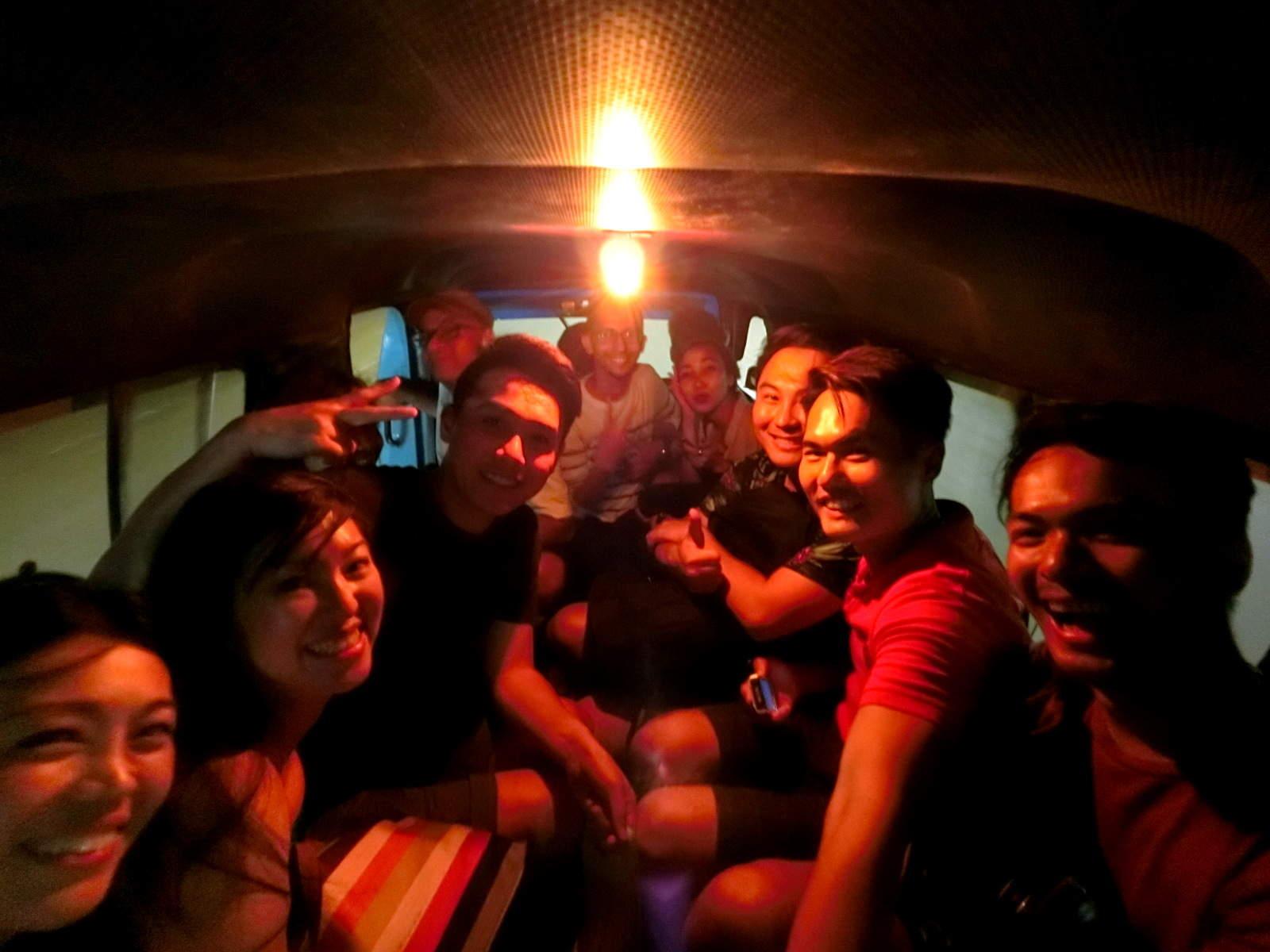 Inside Makassar Public Bus
