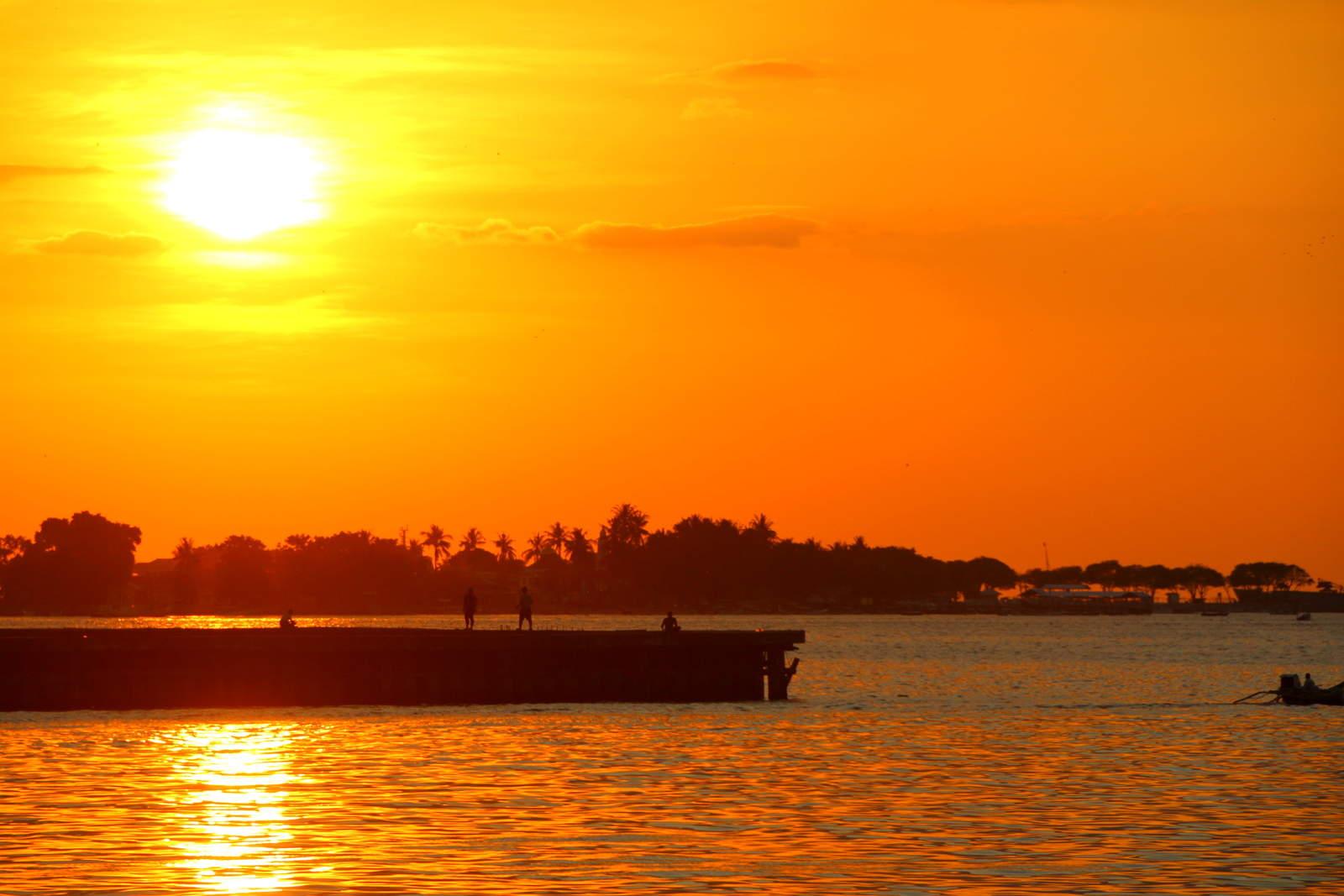 Losari Beach Sunset