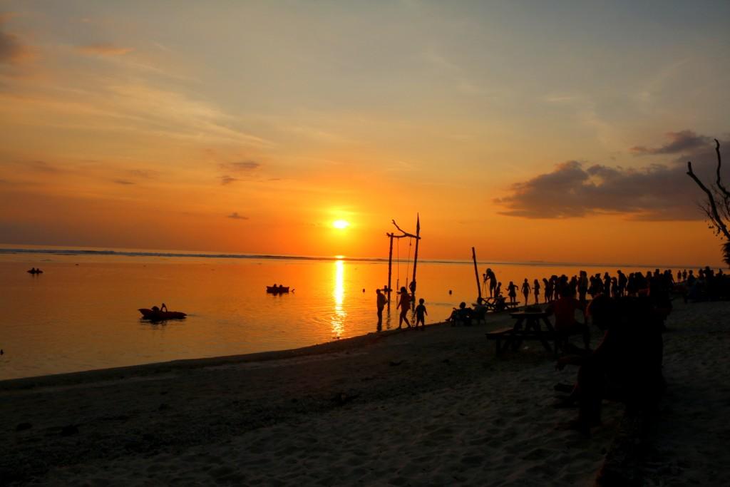 The swing sunset at Gili Trawangan