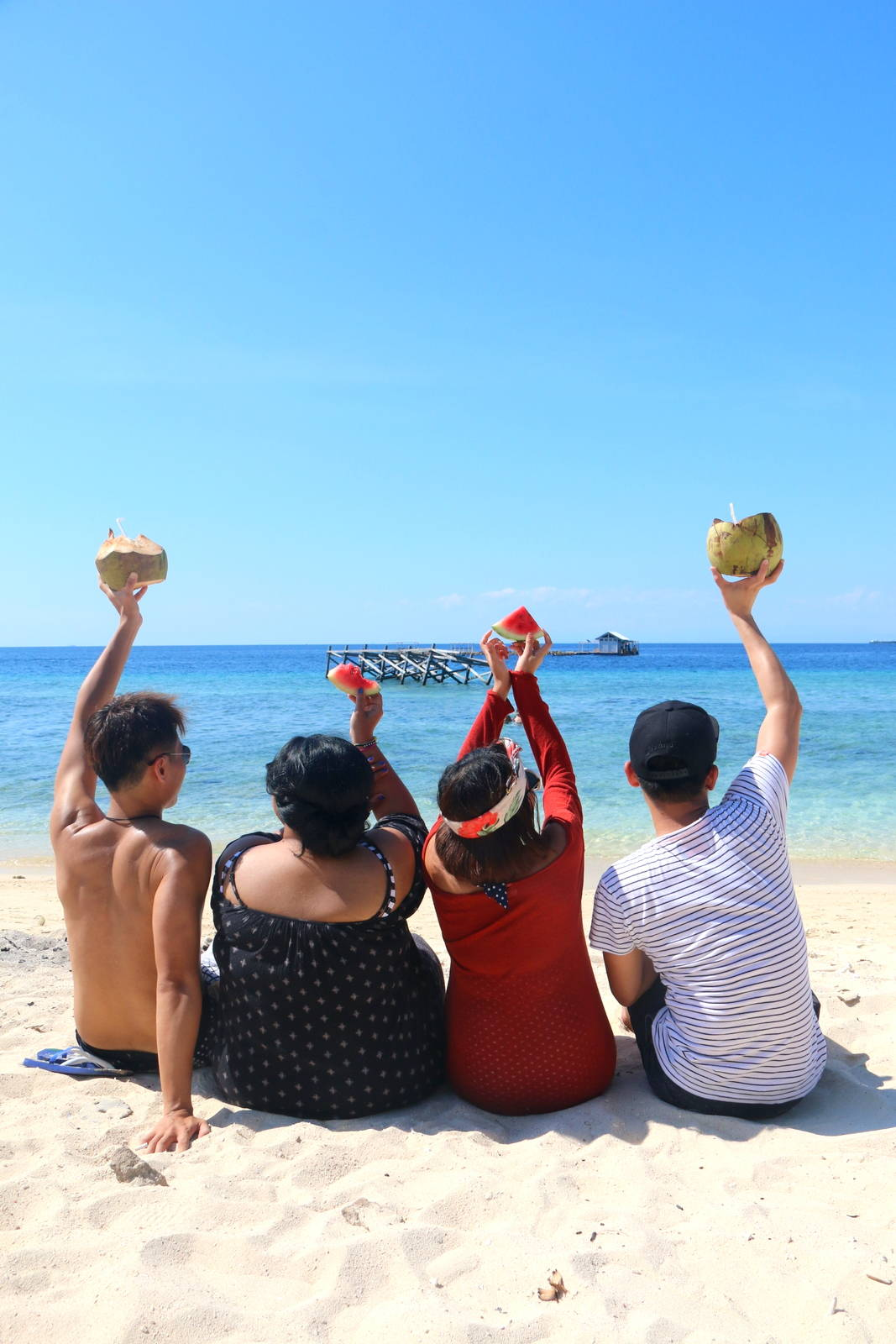 Beach friends Kodingareng Islands